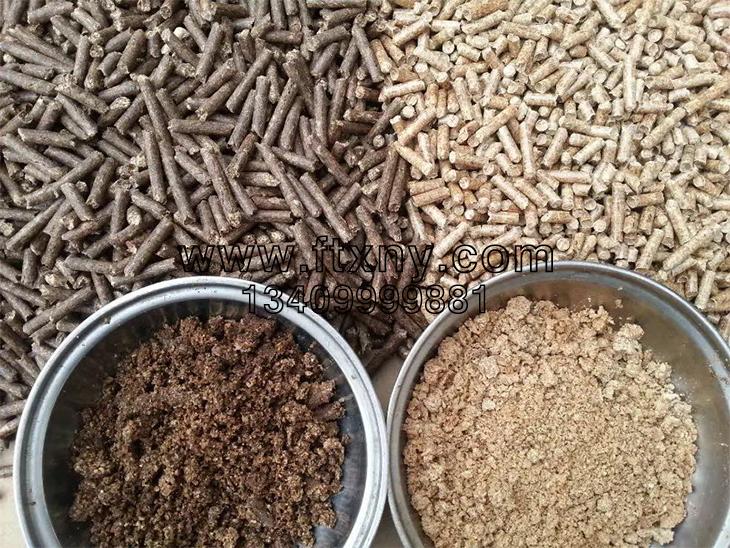 生物质颗粒机压制的不同种类的生物质颗粒燃料